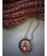 Leukemia Awareness Bottle Cap Necklace - $3.60