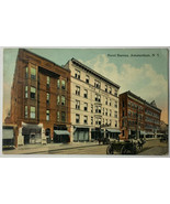 Old Divided Back Postcard Hotel Barnes, Amsterdam, New York Used 1917  - $11.71