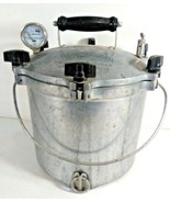 All American Steam Pressure Cooker Vintage 12 Quart W/ Gauge Wire Bail H... - $189.95
