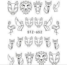 "HS Store - 1PCS Water DIY ""STZ-652"" Nails Black/White Hollow 3D Nail Art Sticker - $2.32"