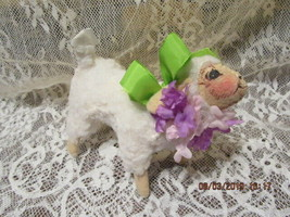 "Vintage Annalee 1991 5"" Spring Lamb With Flowers - $24.00"
