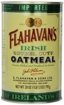 Flahavan's Irish Steel Cut Oatmeal Tin, 28-ounces Pack of 2