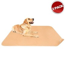 """Mihachi 2 Pack Washable Pee Pads for Dogs - 41""""x 36"""" with Anti-Slip Backing, Reu"""