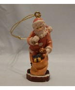PEMA Wood Carvings Santa Ornament - $31.68
