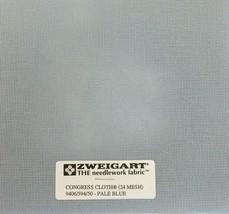 Zweigart Congress Cloth Blank 24 Mesh Needlepoint Canvas Pale Blue Canvas - $9.98+