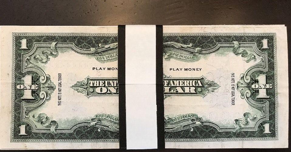 "/<GEM/>1899 /""GOLD/""$1 SILVER☆CERTIFICATE BLACK EAGLE  Rep.*Banknote ~STUNNINGf"