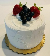 Fake Cheesecake w/ Mixed Berries  Unedible Prop Decoration - $26.72