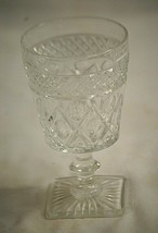 Elegant Water Goblet Wafer Stem Cape Cod Clear by Imperial Glass Ohio Gl... - $16.82