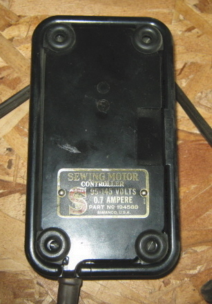 Singer sewing motor controller foot pedal 194588 used for Singer sewing machine motor controller
