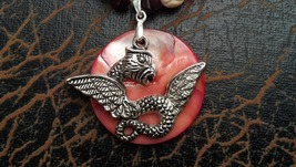 Dragon Seashell Necklace Handmade In USA Gifts for Him Unisex Ships from... - $29.99