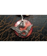 Dragon and Seashell Necklace Hand Made In USA Gifts for Him Unisex - $29.99