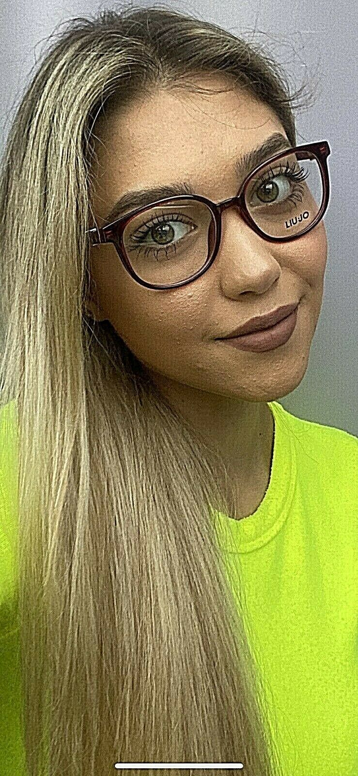 New LIU JO LJ 2632 LJ2632 604 Burgundy 50mm Round Women's Eyeglasses Frame  - $99.99