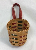 Longaberger 2009 Holiday Sweets Basket, Red, Green, Warm Brown with Protector - $23.74