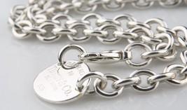 "Tiffany & Co. Plata de Ley ""Vuelta a ""Ovalado Placa Collar 39.4cm Ventas por - $311.86"