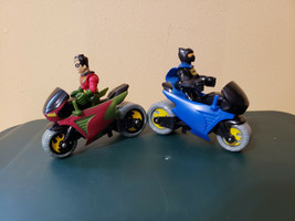 Fisher Price Imaginext DC Super Friends Batman Batcycle w/ Robin Motorcycle - $17.99