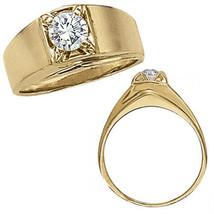 1 Carat G-H Enhanced Diamond Designer Solitaire Mens Man Wedding Ring 14... - $1,736.32
