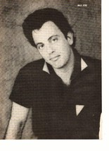 Billy Joel teen magazine pinup clipping black and white 1980's Tiger Beat Bop