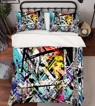 3D Messy Lines 2 Bed Pillowcases Quilt Duvet Cover Set Single Queen King Size AU - $90.04+