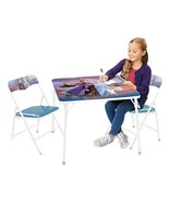 Frozen 2 Table & Chair Set, Folding Table & 2 Folding Padded Chairs - $29.02