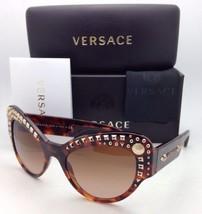 Neu Versace Sonnenbrille Ve 4269 5074/13 Havanna Cat Eye Rahmen / Braune Gläser