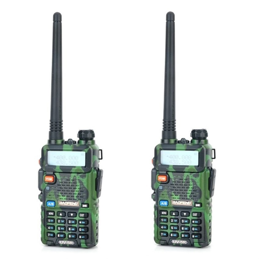 Baofeng uv 5r 5w dual band 128 ch walkie talkie camouflage 2pcs jftime 1412 21 jftime 11
