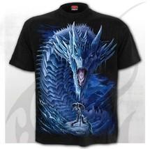 Spiral Direct Ice Dragon Cavaliere Dark Fantasy Frozen Gotico Punk T Shirt - £16.66 GBP