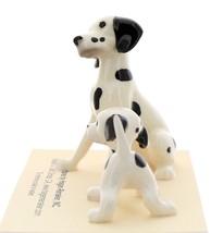 Hagen-Renaker Miniature Ceramic Dog Figurine Dalmatian Sitting with Pup image 4