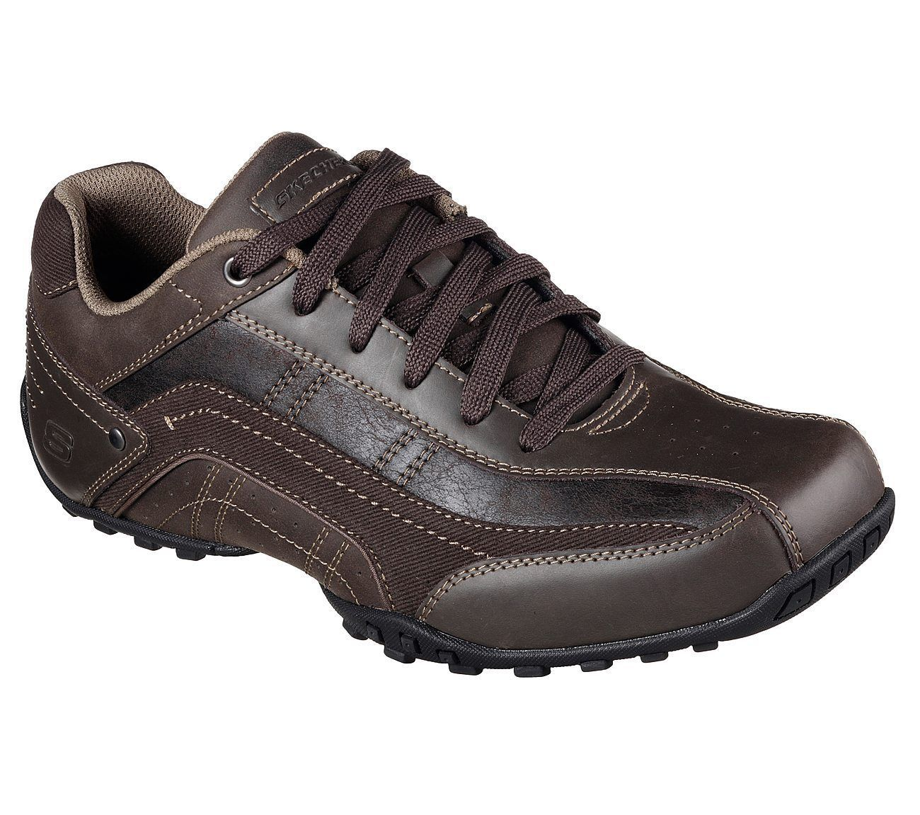Men's Skechers Citywalk - Elendo Casual Shoes, 64932 /CHOC Sizes 8-14 Chocolate