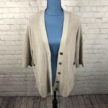 Gap Women's Grandpa Cardigan Heavy Knit Sweater Oatmeal Beige Size M/L 224961 - $24.03