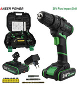 ANEERPOWER® 25V Battery Impact Drill Home DIY Station Electric Hammer Drill - $175.33