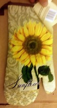 "Printed Kitchen 13"" Large Oven Mitt, SUNFLOWER # 2, brown back by BH - $7.91"