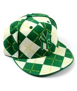 Awesome NY Yankees Official MLB Green Argyle Design Baseball Cap, Size 7... - £32.65 GBP
