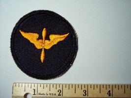 WW2 US Army Air Corps Aviation Cadet Cuff Patch WWII Black Yellow Embroidered - $7.60