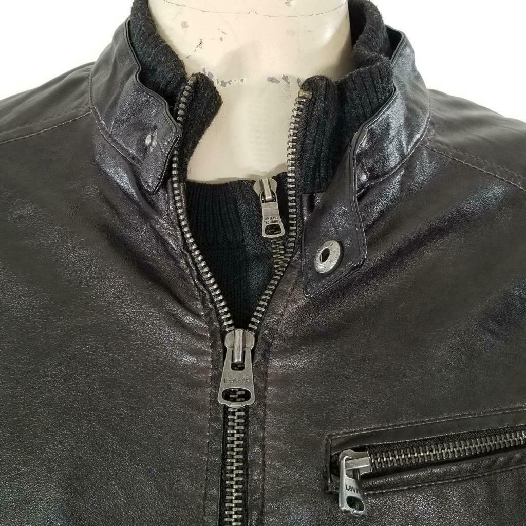 Levis Faux Leather Jacket Sz M EUC image 3
