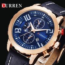 CURREN Luxury Brand Sport Quartz Gold Watches Men Leather Watch Women Wr... - $35.31