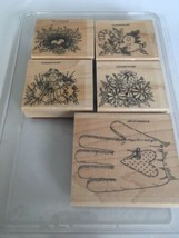 Stampin Up Gifted Glove Stamp Set Gardening Garden Scarecrow Nest Christ... - $19.80