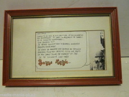 VINTAGE FRAMED WORLD WAR II LETTER AND PHOTO TO LOVER IN FRANCE BY US SO... - $9.99