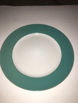 "Royal Norfolk 10 1/2"" Dinner Plates Set Of 4 Green/White (New)SHIPS N 24... - $29.28"