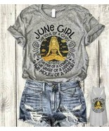 June Girl The Soul Of A Gypsy The Fire Of A Lioness Ver.2 Ladies T-Shirt... - $18.76