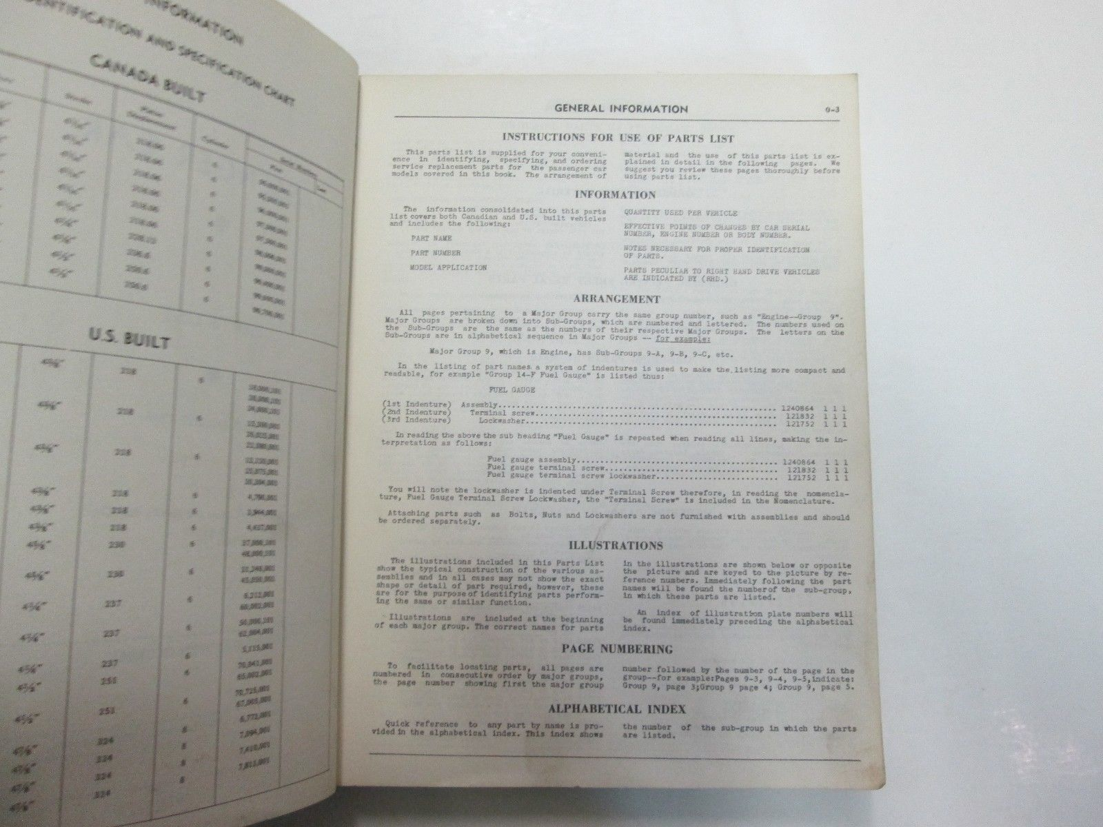 1949 Chrysler Passenger Car Parts List Manual C45 46 47 P17 18 D29 30 31 32 S13