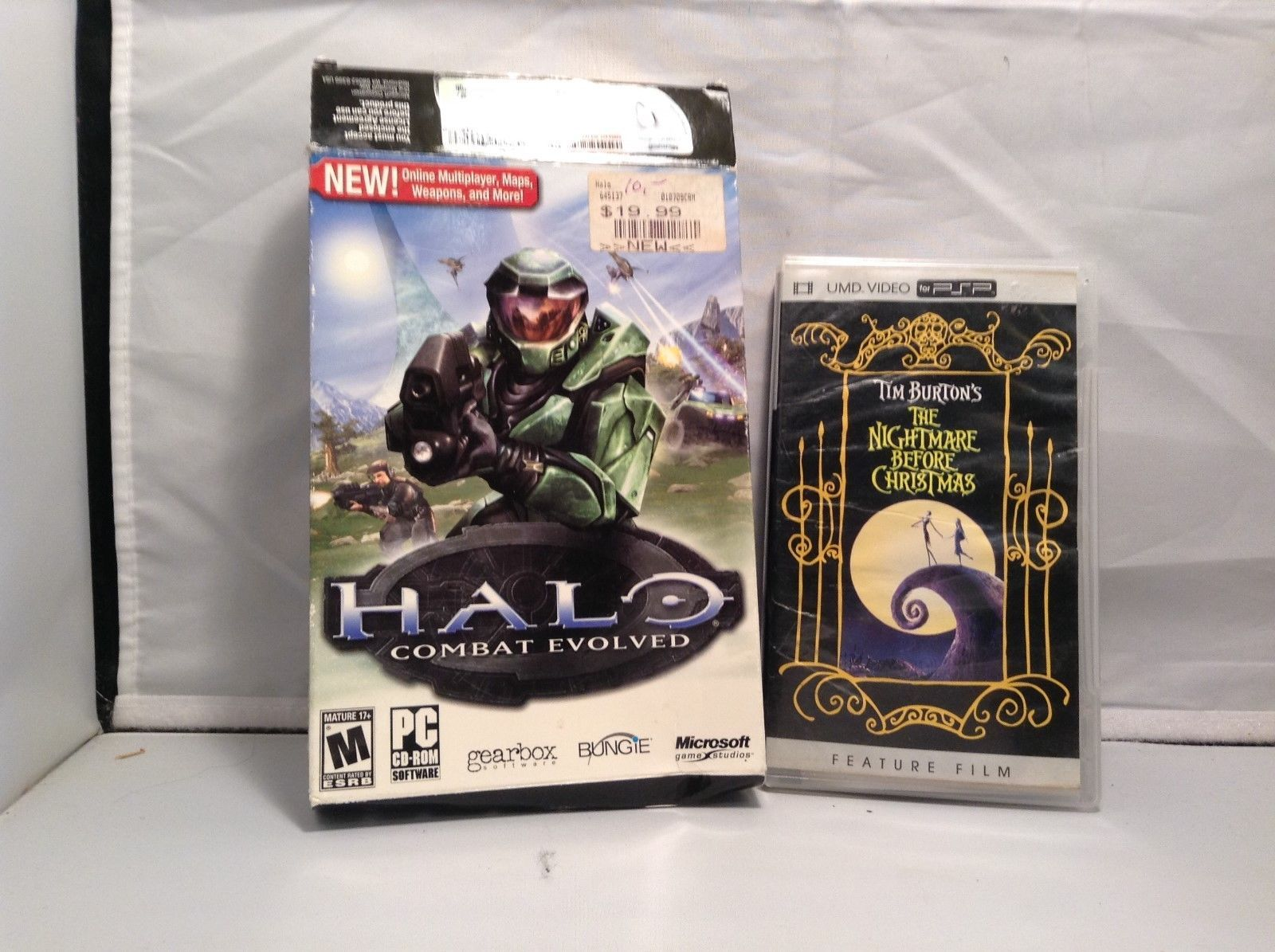 HALO Combat Evolve for PC and Nightmare Before X-Mas for PSP