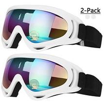 COOLOO Ski Goggles, Snowboard Goggles for Men Women & (06.white/White) - $18.06