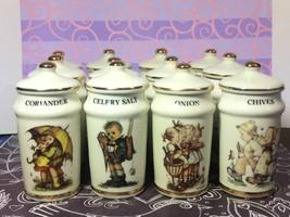 MJ Hummel (12 PCS)  Vintage Spice Jars with Lid - $118.80