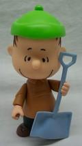 "Peanuts Gang Cute Winter Linus W/ Shovel 5"" Plastic Action Figure Toy - $14.85"