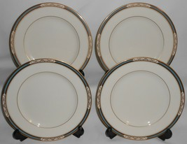 Set (4) Mikasa Fine Ivory Cathedral Pattern Salad Plates Made In Japan - $39.59