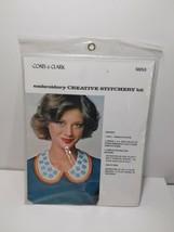Vintage Coats Clark Embroidery Creative Stitchery Kit 5853 Collar Flowers - $9.79