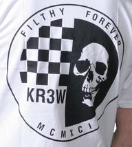 KR3W Skateboarding Mens White Black Skraw Ska Skull Regular T-shirt K52559 NWT image 2