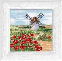 Cross Stitch Hand Embroidery Kit Beautiful Spain Landscape Castilla - $12.72