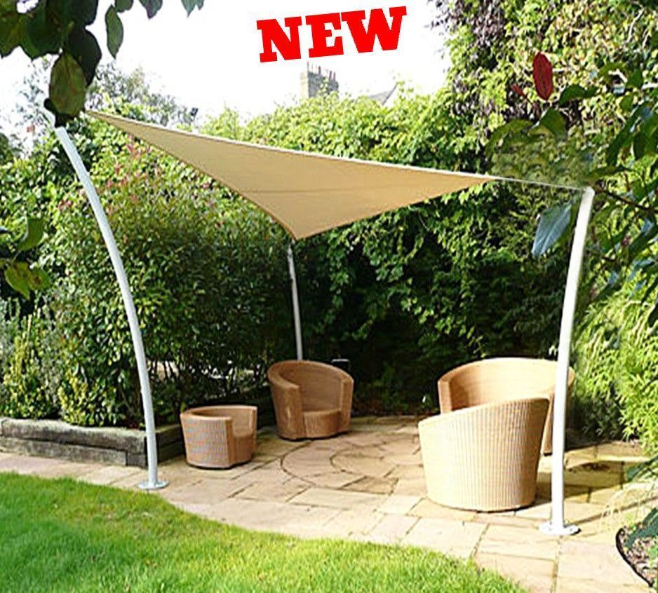 Outdoor Sun Shade Triangle UV Block Top Canopy Patio Lawn