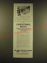 1947 Schulmerich Carillonic Bells Ad - illuminate honored service names - $14.99